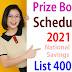 Prize Bond Schedule 2021 List 40000