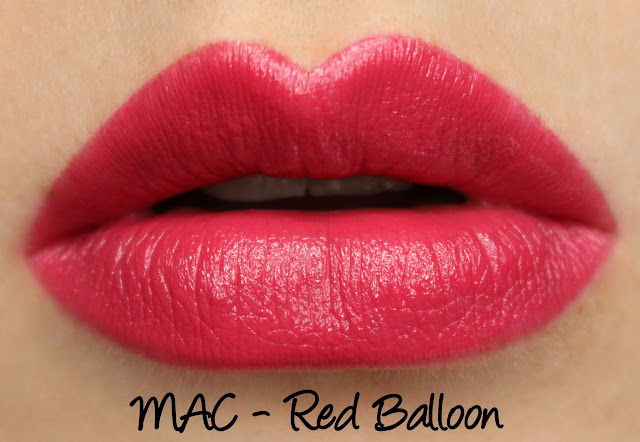MAC Red Balloon Lipstick Swatches & Review