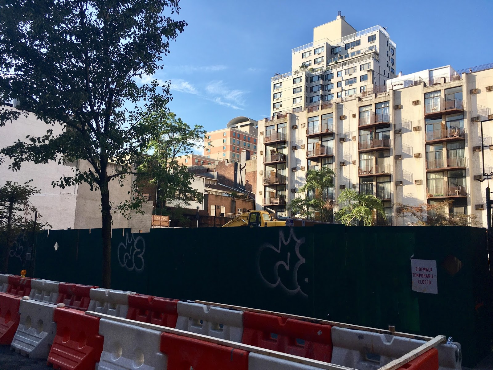 ev grieve: foundation work starts on moxy hotel as plywood
