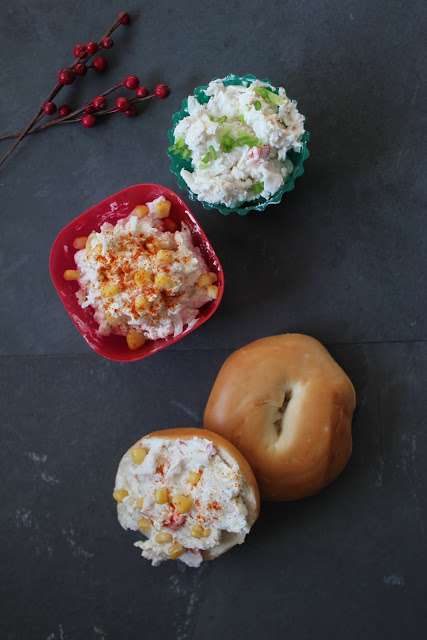 See how we create a fancy holiday bagel and schmear with the amazing taste of Louis Kemp Crab Delights!