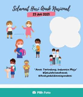 twibbon hari anak nasional 2021 menarik