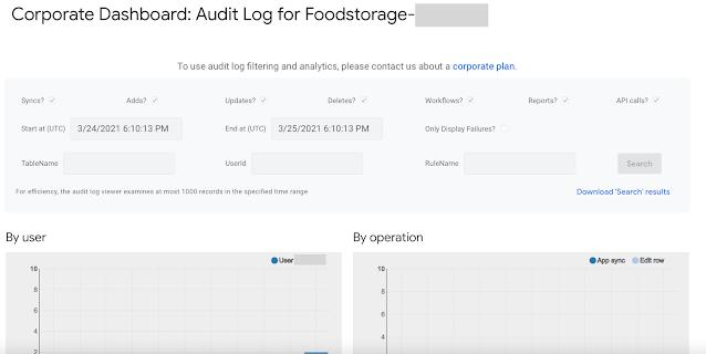 AppSheetでAudit History Logページを表示させる