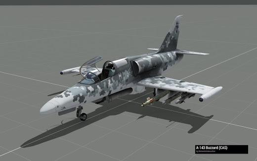 Arma3のA-143 Buzzardに新スキン