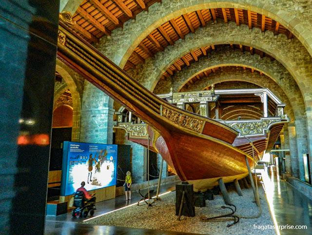 Galera Real da Batalha de Lepanto no Museu Marítimo de Barcelona