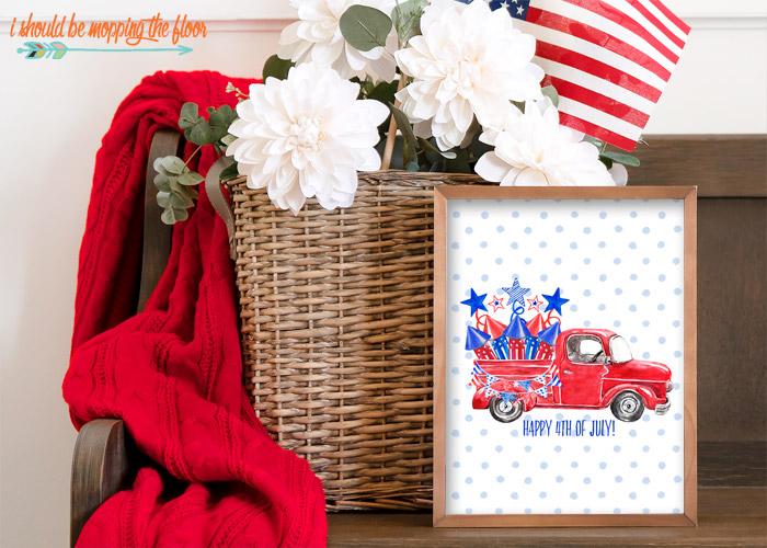 Free Patriotic Truck Printable