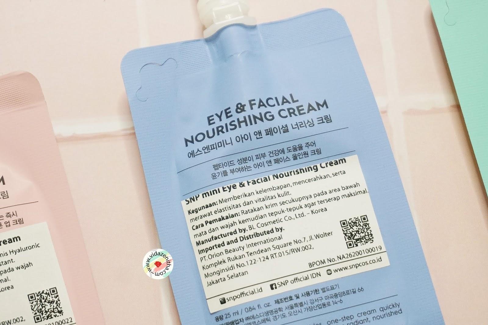 Review SNP Mini Eye & Facial Nourishing Cream