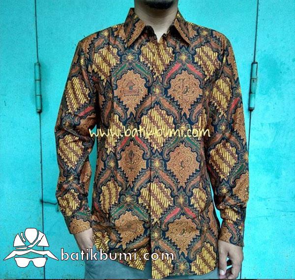 Kemeja Batik Panjang Sekar jagad Sogan