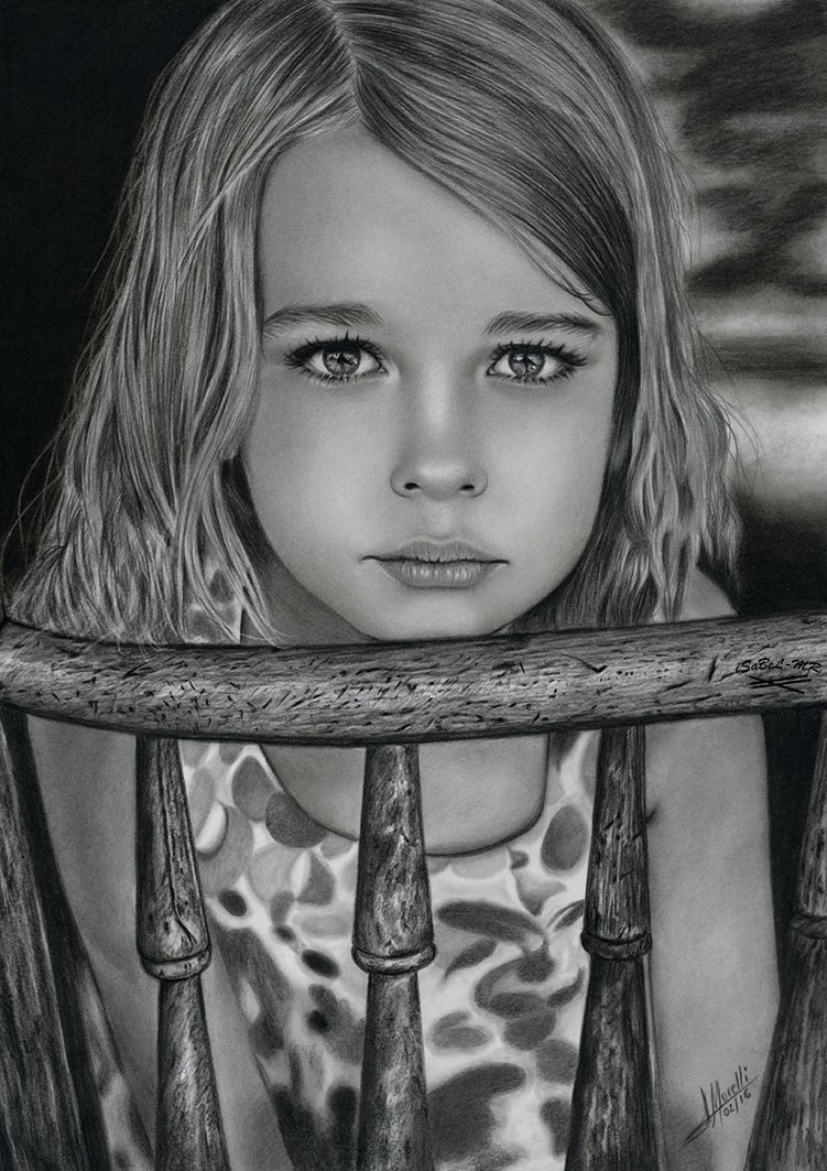 03-Un-atisbo-de-esperanza-Isabel-Morelli-iSaBeL-MR-Pencil-Black-Pastel-and-Charcoal-Portrait-Drawings-www-designstack-co