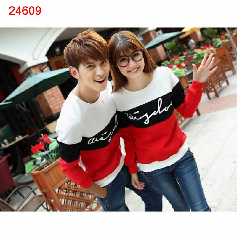 Jual Sweater Couple Sweater Wisdom Saga White Black - 24609