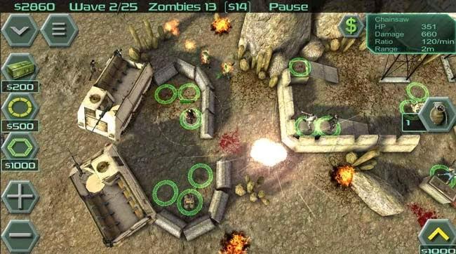 Jogo para Android Zombie Defense