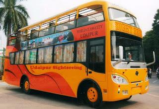udaipur sightseeing tour, udaipur tourism, udaipur bus tour, hop on hop off bus tour in udaipur