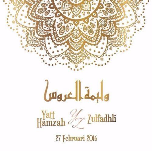 Yatt Hamzah Mula Edar Kad Jemputan Kahwin