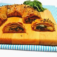 Strudel integral de espinafres, pinhões e queijo