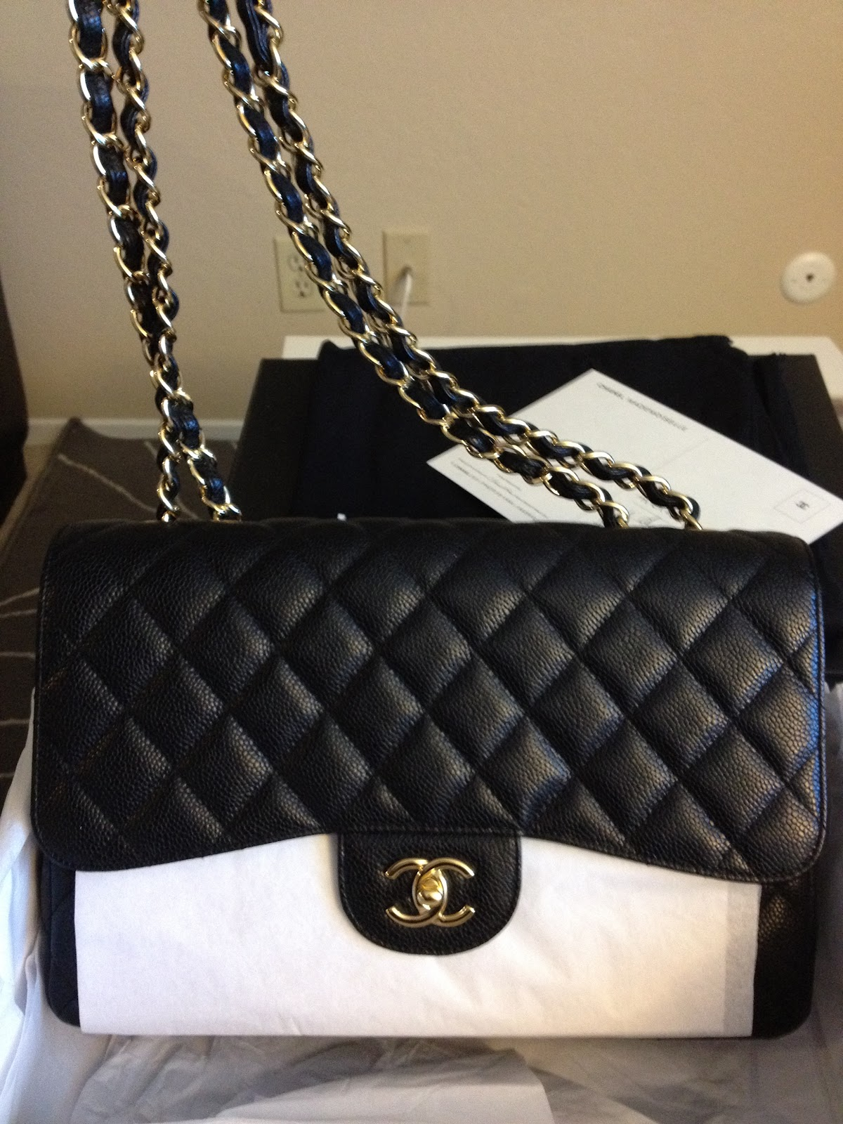 Chanel Large Grocery Shopping Basket W Tags: P.A.M.U. Addict: Bag Reveal: Chanel Jumbo Caviar Flap