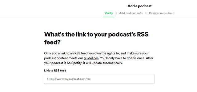 cara upload podcast di spotify