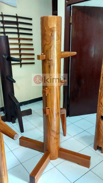 KIMU Gold Tiger Wooden Dummy / Mok Yan Jong / boneka kayu wing chun 170cm