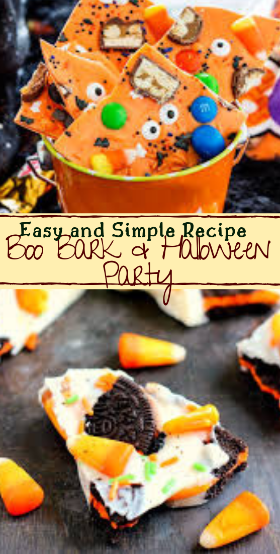 Boo Bark & Halloween Party #desserts #cakerecipe #chocolate #fingerfood #easy
