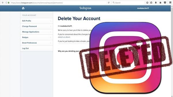 Cómo eliminar o desactivar una cuenta de Instagram