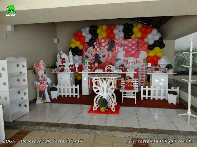 Decoração infantil tema Minnie Mouse (vermelha) - Provençal Luxo
