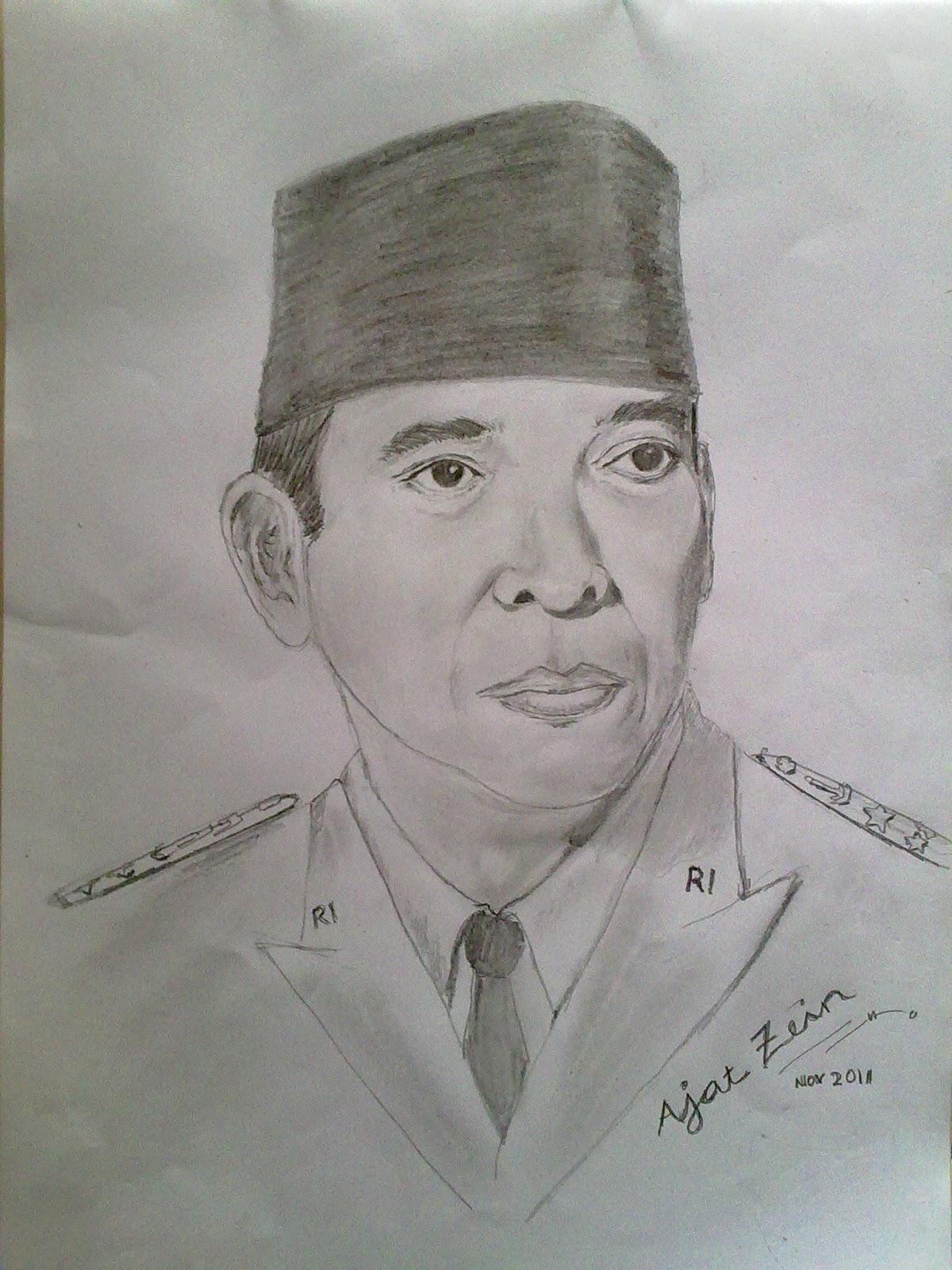 Sketsa Gambar Ir Soekarno Garlerisket