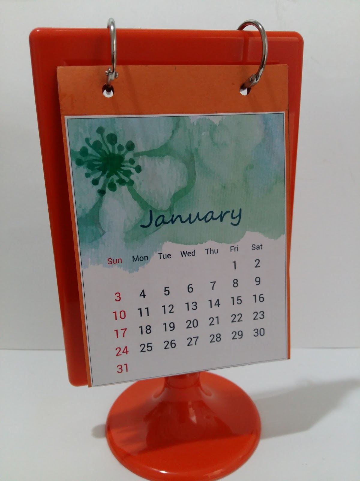 crafts by orangeberry diy desk calendar
