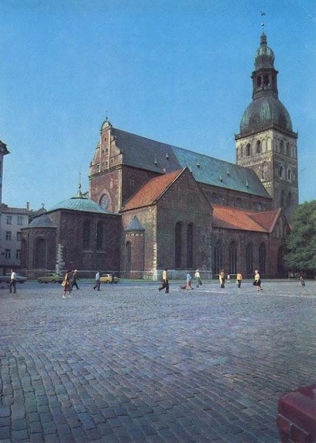 1981 год. Рига. Домская площадь и Рижский органный концертзал