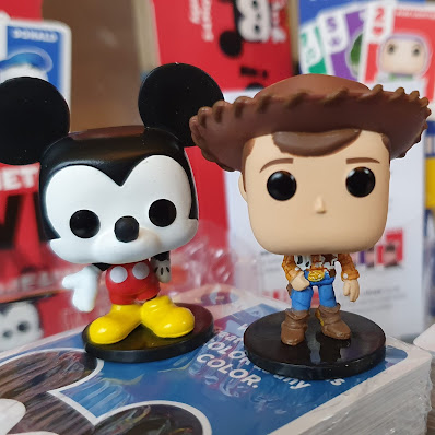 Funko Disney Something Wild characters Woody and Mickey Mouse from Micky and Friends