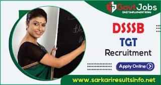 DSSSB TGT Recruitment