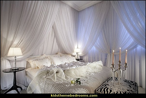 romantic bedroom decorating ideas - romantic bedding ideas - romantic master bedroom ideas - Romantic Luxury decor - hearts and flowers Valentines Day style - valentines day bedroom ideas - heart shaped candles - heart shaped decorations