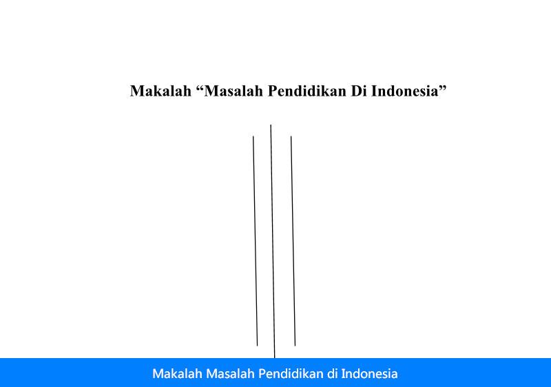Contoh Makalah Masalah Pendidikan di Indonesia