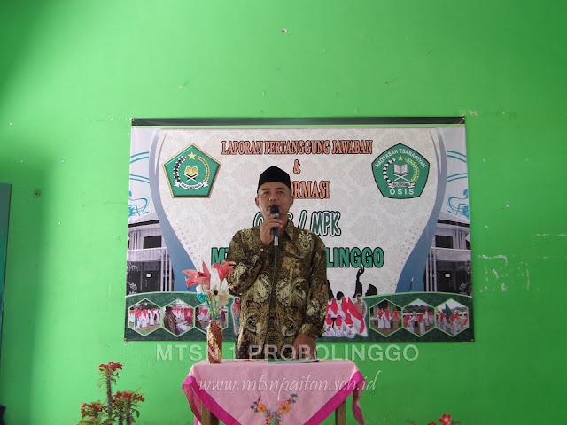 Sambutan Wakasis MTsN 1 Probolinggo di Nurul Jadid