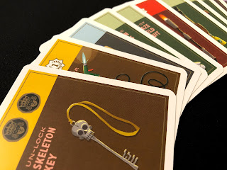 A selection of gear cards from Caper.