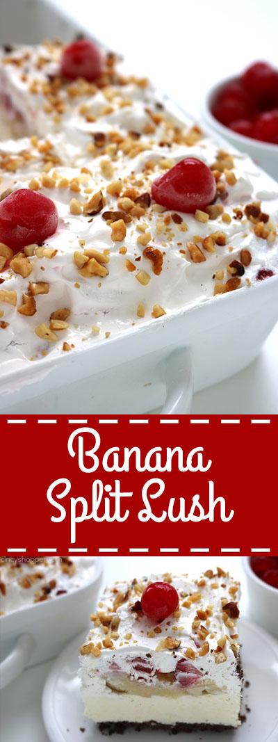 Banana Split Lush - Dessert Recipes