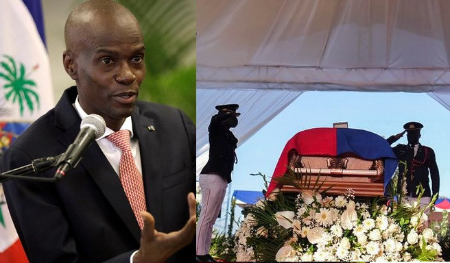 Haiti's murdered president, Jovenel Moïse laid to rest as tensions flare