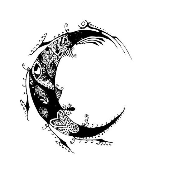 Tattoo Stencils Printable Moon: Drursus: Full Moon Tattoos Designs