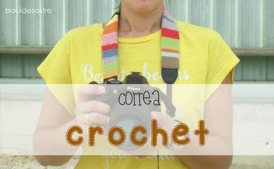 correa crochet para cámara de fotos