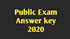 PUBLIC EXAM QUESTION PAPER WITH ANSWER KEY 2020