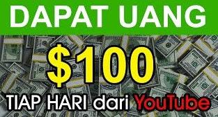 Cara Menghasilkan $100 /Hari dari Youtube