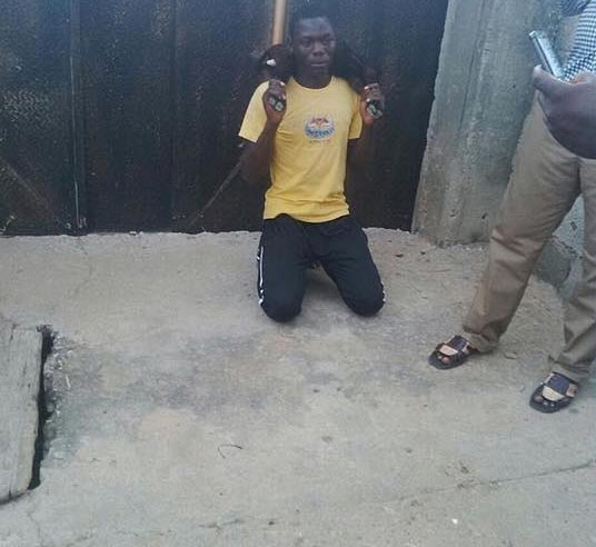Residents nab man for stealing goat in Abuja, made him do this