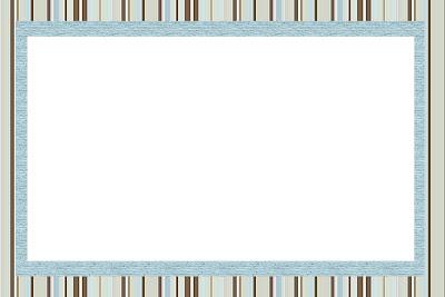 Listras Azul e Marrom – Kit Completo com molduras para convites ... e119f622cc