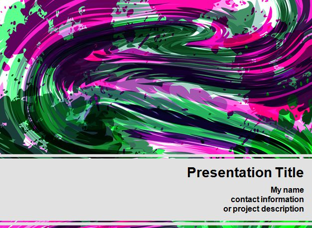 Color Crayon PowerPoint Template