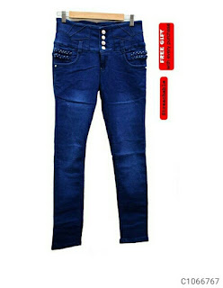 Women High Rise Cotton Blend Solid Jeans