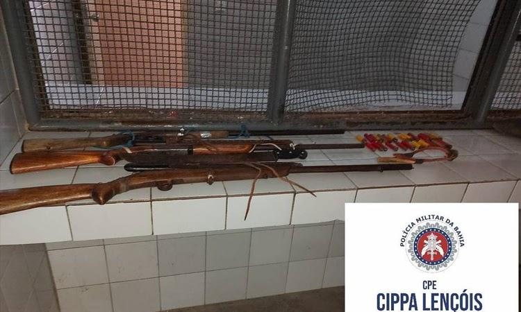 Cippa Lençóis apreende armas e conduz caçadores em Ruy Barbosa