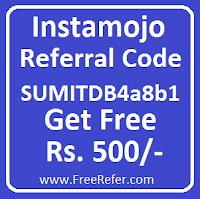 Instamojo referral code
