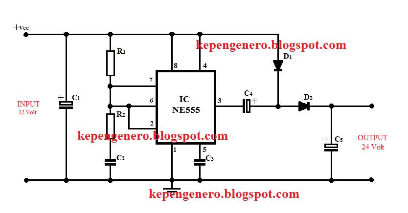 Berbagi Ilmu Rangkaian Converter 12 Volt Dc To 24 Volt Dc