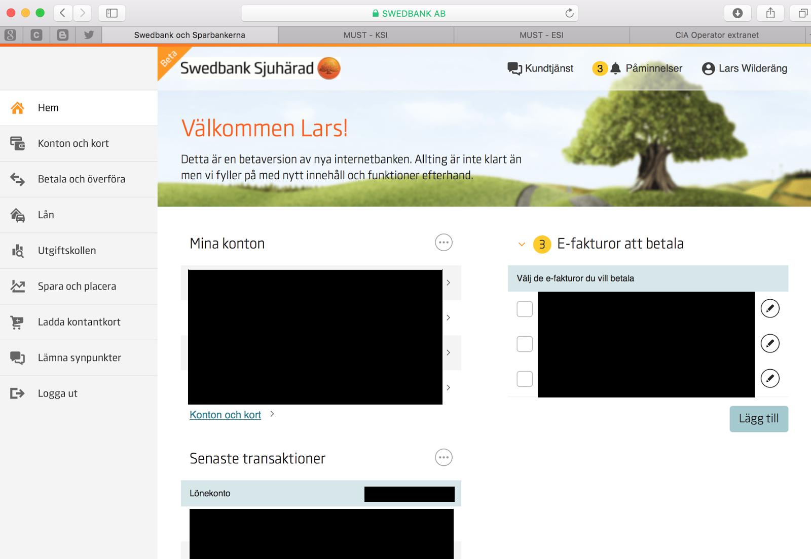 gamla internetbanken swedbank