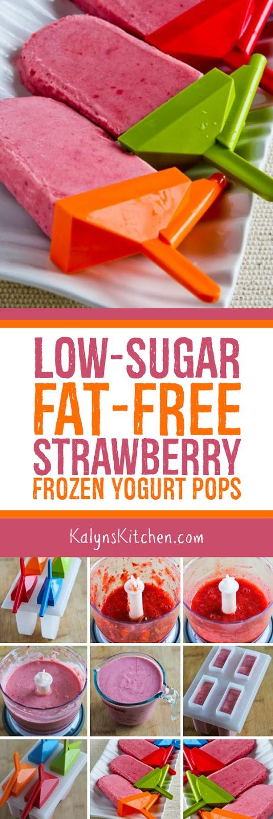 Low-Sugar Fat-Free Strawberry Frozen Yogurt Pops - Kalyn's ...