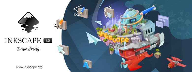 Crear gráficos vectoriales como logos, diagramas, ilustraciones con Inkscape