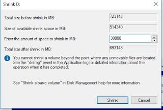 Shrink Volume Dual Boot Ubuntu