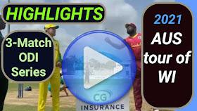 West Indies vs Australia ODI Series 2021